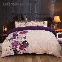 LOVINSUNSHINE Comforter Bedding Sets Duvet Cover Queen King Size Home Textile Flower Print Bedding And Bed Sets AB#118