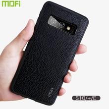 MOFi Lichee Pattern Leather Case for Samsung S10, S10Plus, S10e