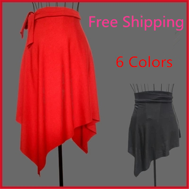 2018 Multicolor Girls Cute Latin Dance Skirt Women Ballroom Salsa Dance Skirt Adult Tutu Dancing Dress Costumes Tango Samba Dres