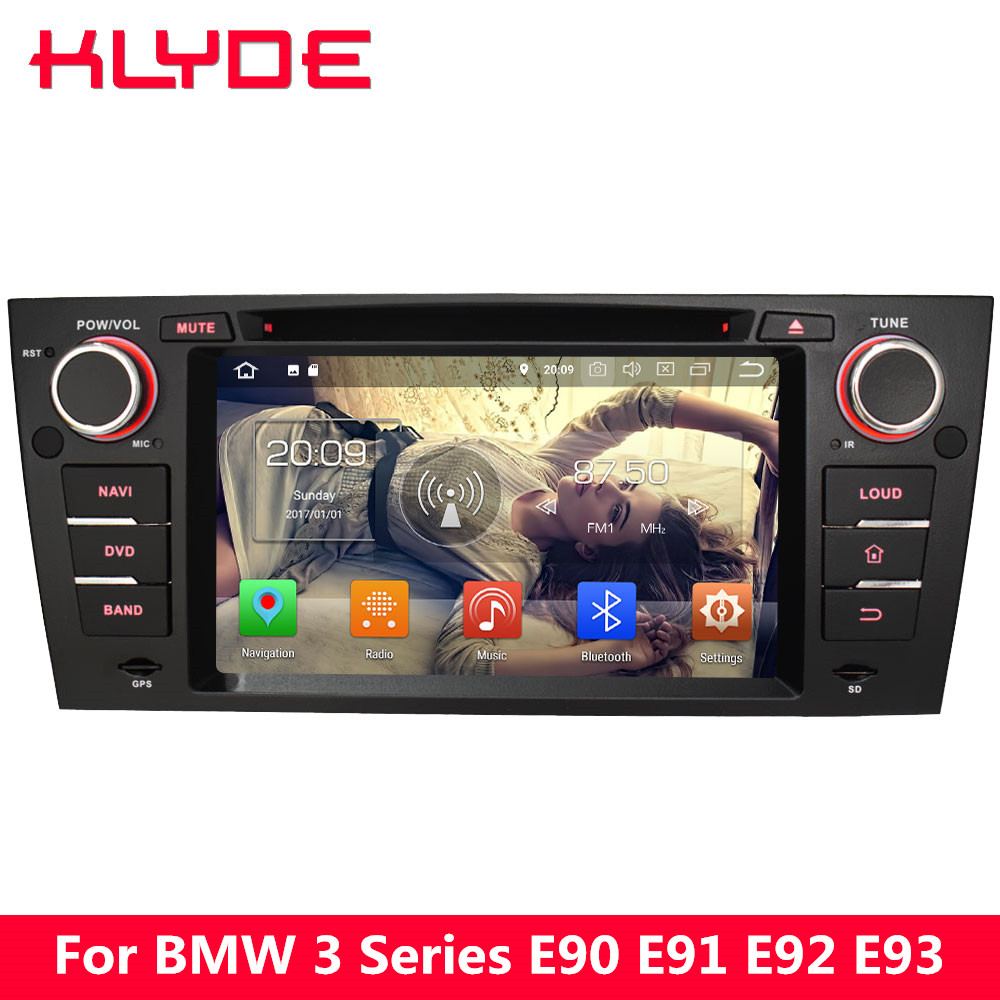 KLYDE 4G Android 8.0 Octa Core 4GB RAM 32GB ROM Car DVD Player Stereo GPS Navigation For <font><b>BMW</b></font> 3 Series <font><b>E90</b></font> E91 E92 E93 2005-2012