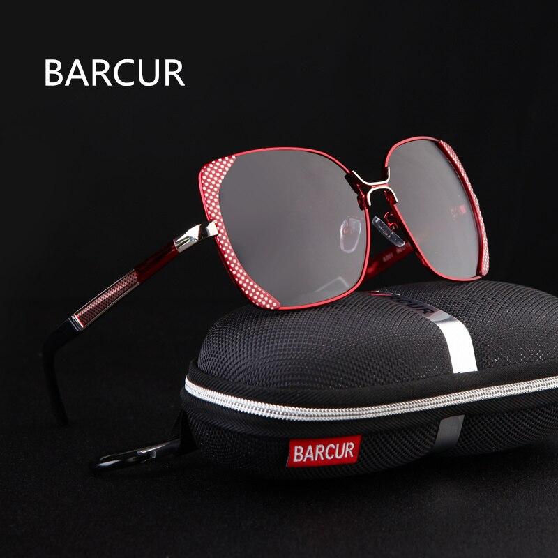 Image BARCUR 2017 Female Sunglasses Women Brand Designer Polarized Sunglasses Summer HD Polaroid Lens Sun Glasses With Original Case