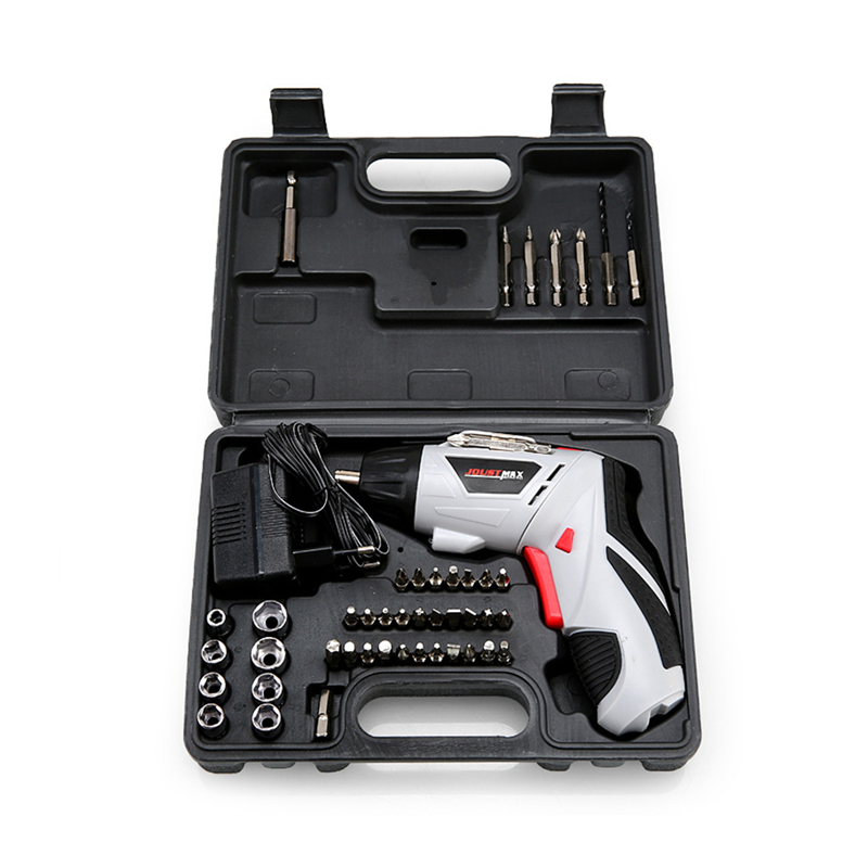 4.8V Mini Electric Screwdriver Drill Rechargeable Cordless Screwdrivers Household DIY Tools Sets+45Pcs Accessory EU Plug 4 8v mini electric screwdriver drill rechargeable cordless screwdrivers lithium battery household diy tools sets