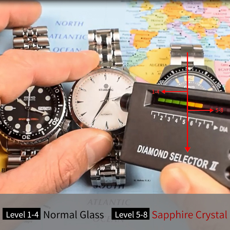 STARKING Original marque montre hommes automatique auto-vent en acier inoxydable 5atm étanche affaires hommes montre-bracelet montres AM0184 - 6