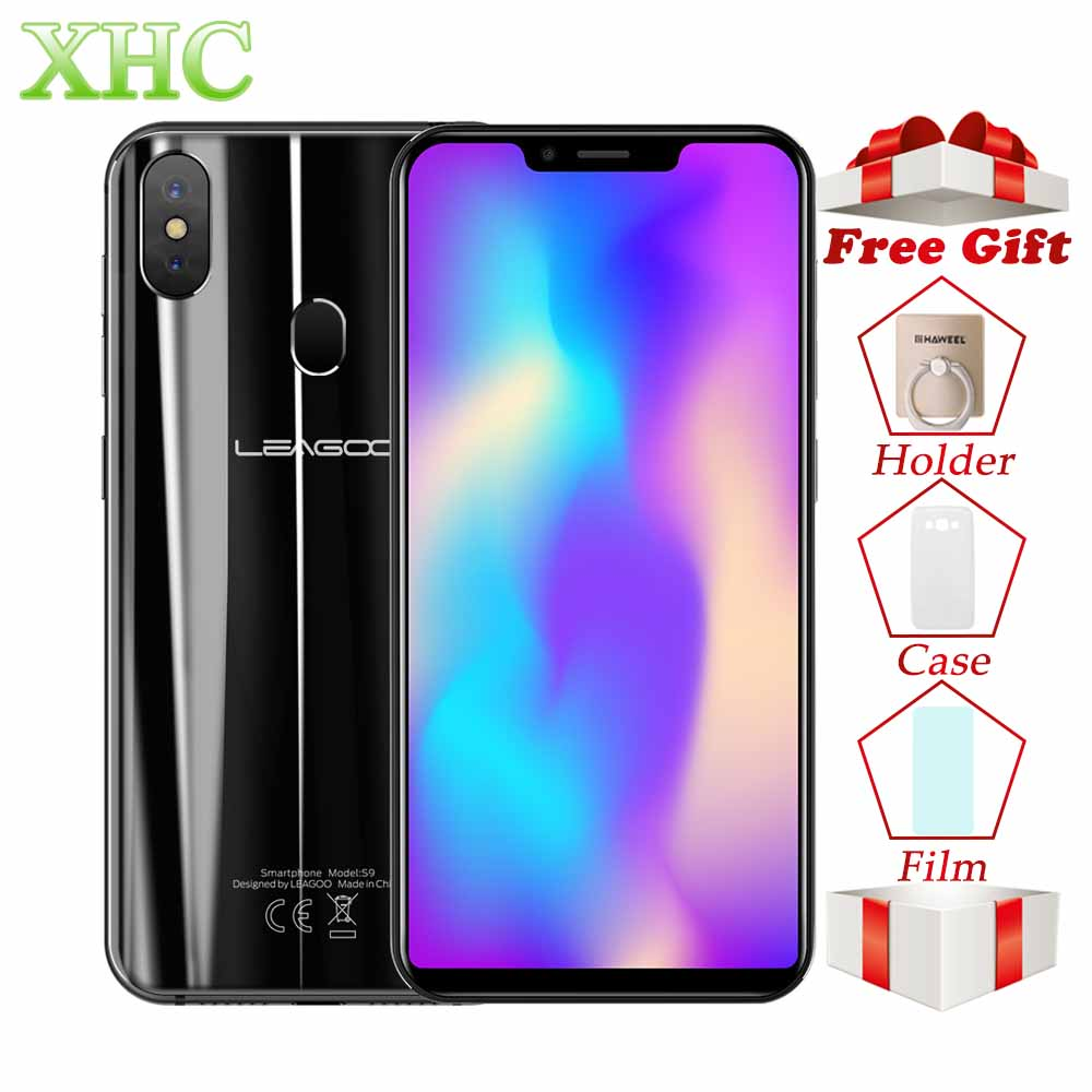 LEAGOO S9 Android 8.1 5.85 pouces Smartphones RAM 4 gb ROM 32 gb MTK6750 Octa Core Visage ID 13MP 8MP double SIM OTG GPS 4g Mobile Téléphones