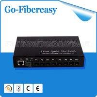 Nova venda produto 100 Mpbs 9-Port SFP SFP fibra óptica media converter