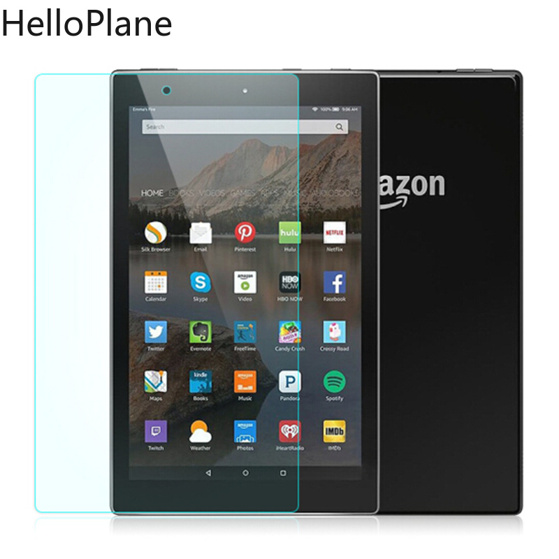 Tempered Glass Screen Protector For Amazon Kindle Fire HD 10 2019 2017 New / HD10 2015 / 10.1 Inch Tablet Protective Film Guard