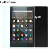Protetor de tela de vidro temperado para amazon kindle, fire hd 10 2019 2017 novo/hd10, 2015 / 10.1 polegadas, tablet película protetora