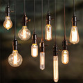 Kaigelin Retro Edison Light E14 E27 Incandescent Bulb ST64 G80 Filament Bulb Squirrel-Cage Carbon Bulb Vintage Bulb Pendant Lamp