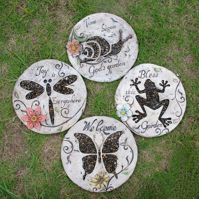 New Arrival U Fashion Rustic Pedal Foot Stone Decoration Garden Stepping