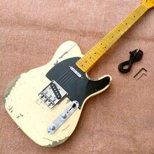 Новый стиль Telee электрогитара винтажная электрическая гитара искусственный культурный реликвии электрогитара бесплатная доставка