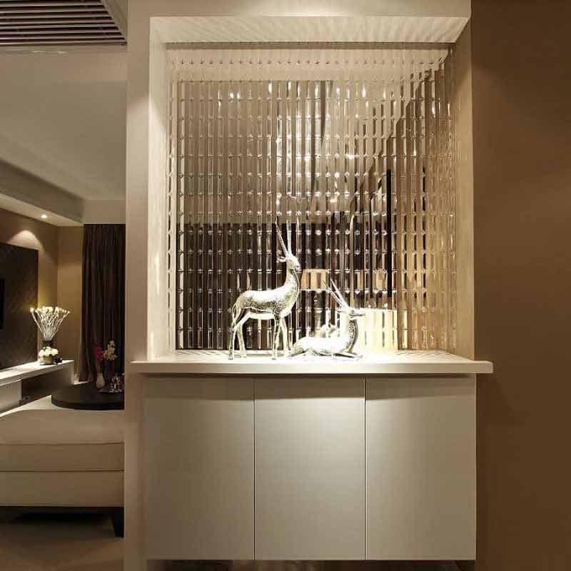 Ligne chaîne cristal verre bande rideau fenêtre porte diviseur pure rideau cantonnière luxe salon chambre mariage décor à la maison