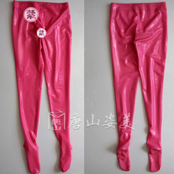 Sexy MEN latex trousers with Penis Sheath Latex leggings WITH GLUE PENIS CONDOM CUSTOMIZED