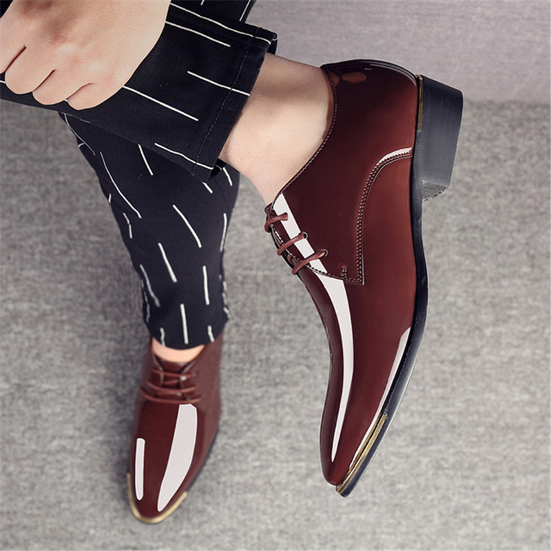 branco Casamento Homens Respirável Aa60523 marrom Rendas Dedo Noivo Até Vestido Sólida De Masculinos Do Sapatos azul Moda Luxo Apontado Clássico Preto RpOqwxR4