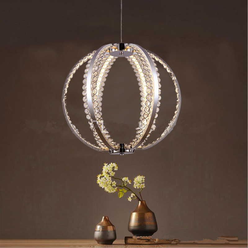 Modern Simple Living Room LED Chandelier Dining Room Bedroom Restaurant Lamp Creative Crystal Ball Light Free Shipping
