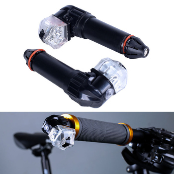 1 Pair Bike Handle Bar End Plug Light Cycling Safety Turn Signal LED Lamp USB Charging YS-BUY image