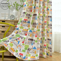 XinHuaEase Curtains for Kids Magic Town Bedroom Windows Curtain for Children Cortina in the Nursery Children's Blackout Cortinas