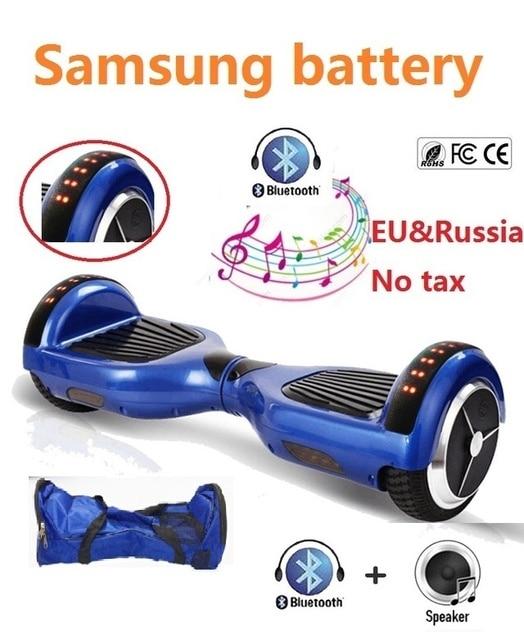 6.5 ''дюймовый ХОВЕРБОРДА Bluetooth и светодиодный скейтборд 2 колеса балансируя gyroscooter дешевые за бортом гироскопа скутер для детей