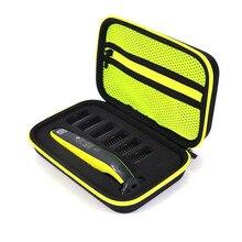 Новый жесткий чехол для Philips OneBlade QP2530/2520, аксессуары для бритья Дорожная сумка из ЭВА, коробка для хранения, чехол на молнии с подкладкой