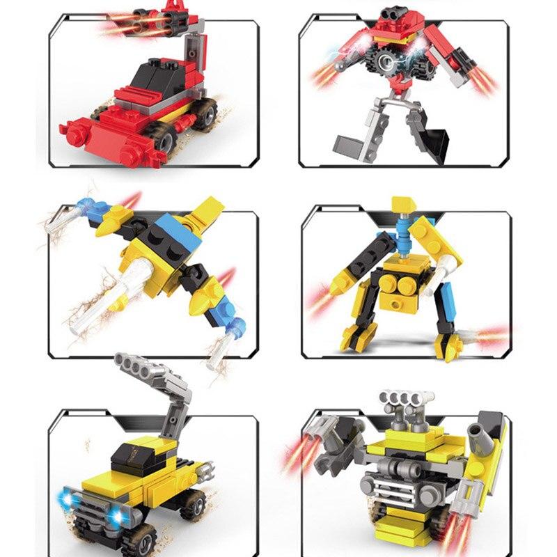 Mech Robot Tramsform Truck Racing Car Aircraft Fighter Building Blocks Set Bricks Compatible Legoinglys Children Toys Ninjago Model Building Kits Toys & Hobbies