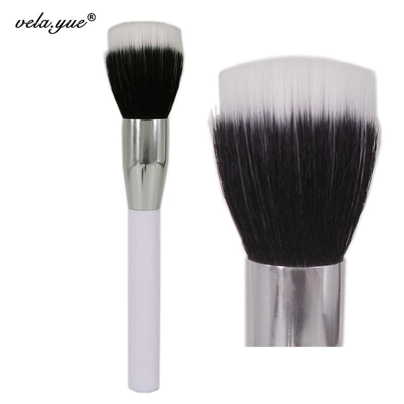 Premium Duo Fiber Stippling Borste Multipurpose Face Makeup Borste För Pulver Foundation Bronzer Blush Kosmetika Skönhetsverktyg