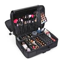 Высококачественная косметичка кейс для профессионального макияжа Органайзер для макияжа Bolso Mujer косметичка большая емкость сумка для хран...