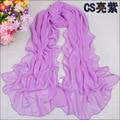 Во-вторых убийство новый 2014 мода все матч сплошной цвет шифон шелковый шарф мыс высокое качество весна и лето солнцезащитный крем шарфы