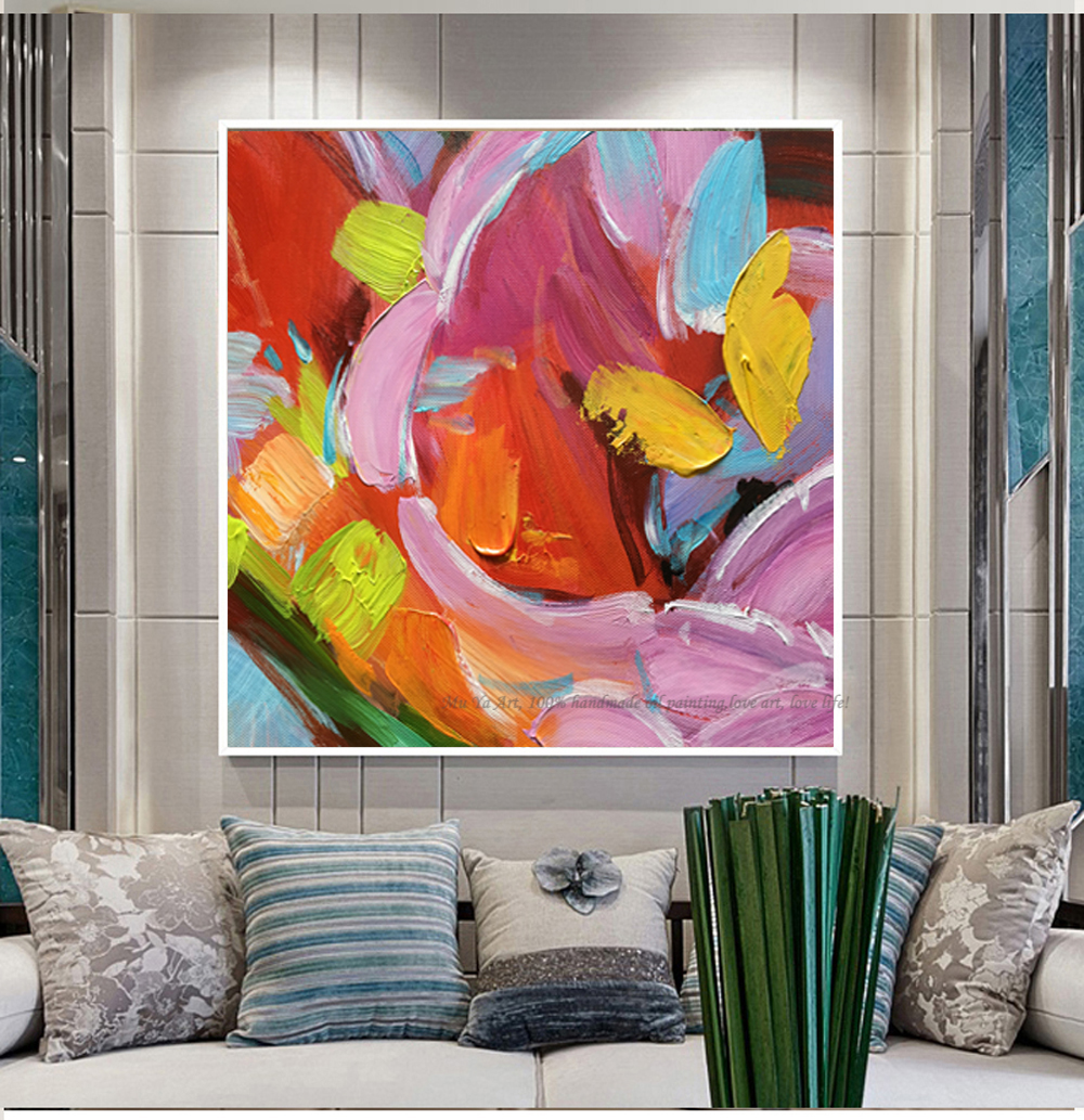 Cuadros Pintura Oleo Us 50 15 15 Off Muya Laminas De Cuadros Pared Decorativas Painting Wall Art Picture Pinturas Al Oleo Abstractas Handmade Living Room Paintings In