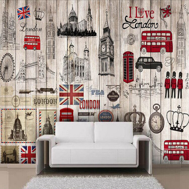 Ways Is Sticky Wallpaper Impression Do Old Board To London From The Sitting Room TV Setting