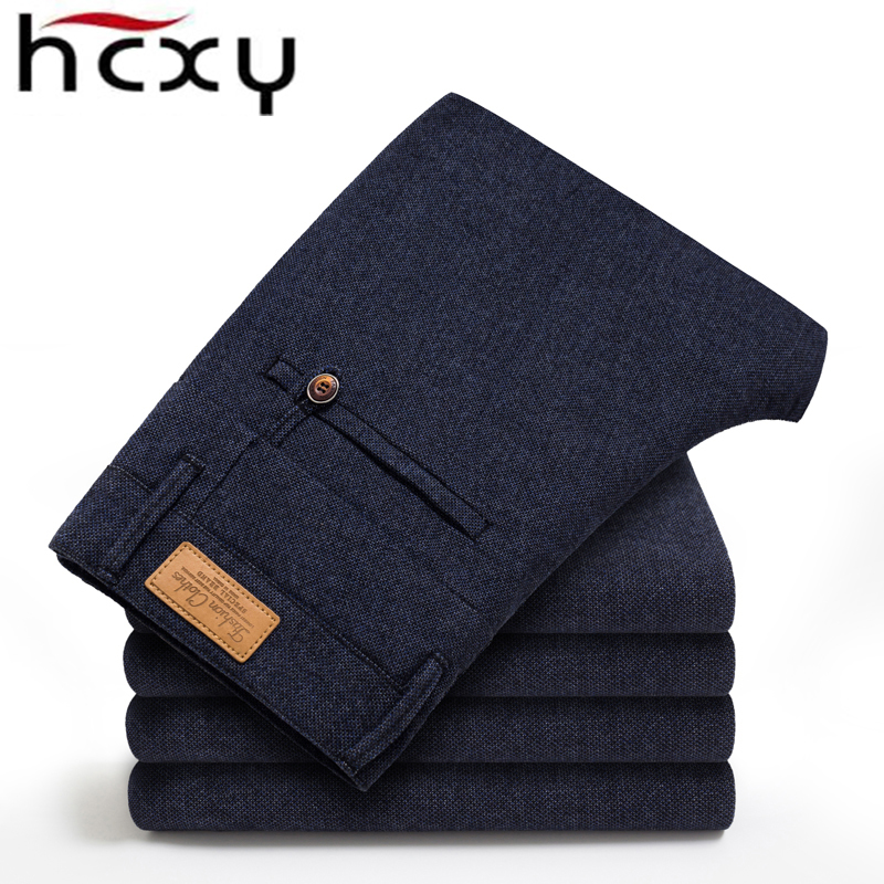 HCXY male trousers men's winter business casual pants