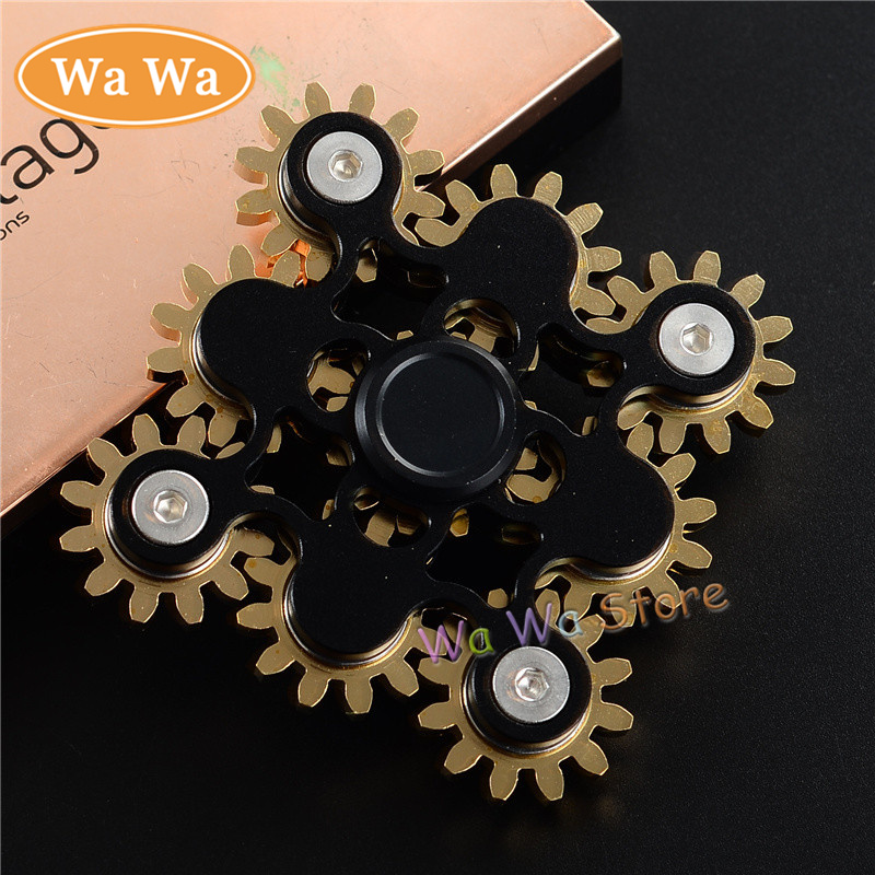 2 Color Metal Two Spinner Fidget Toy Stainless steel EDC Hand Spinner Rotation Time Long Anti