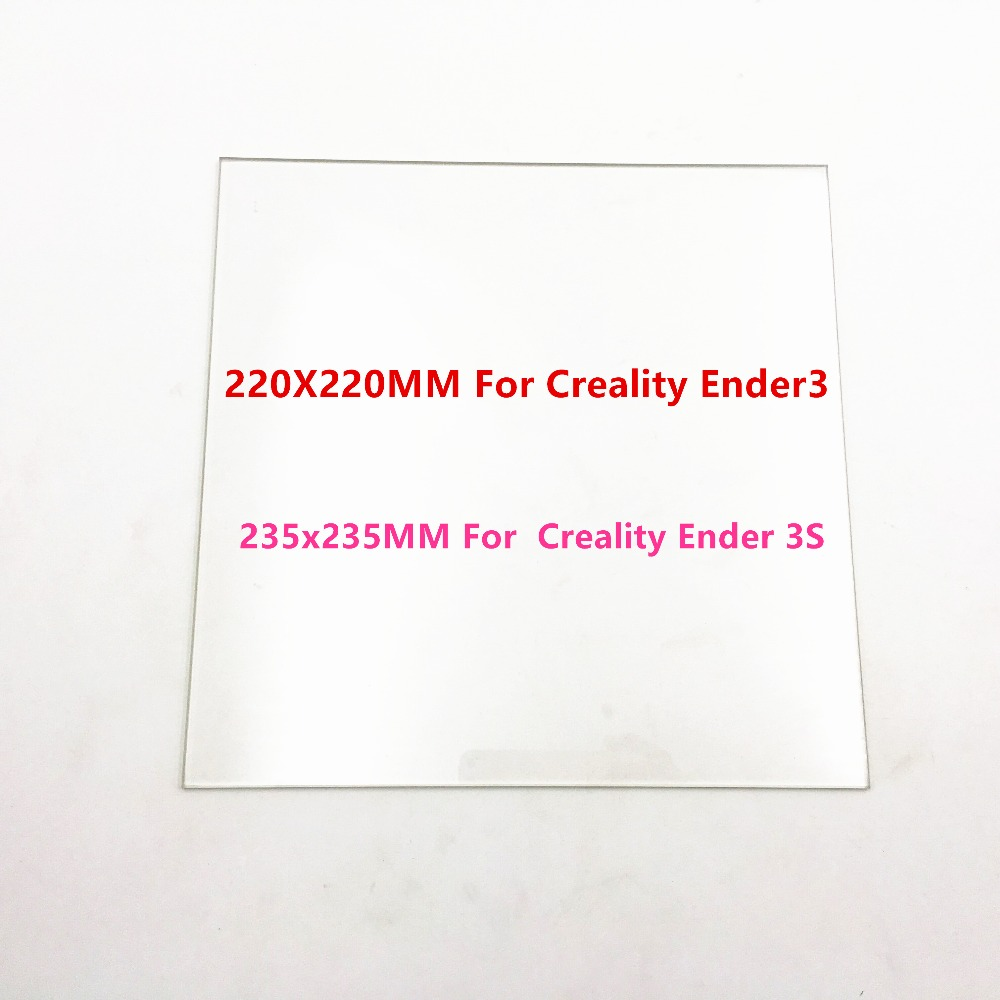 Funssor 220/235mm Borosilicate Glass Bed  for Creality Ender-3/3S 3D printer  matte Heated Bed Borosilicate Glass Plate