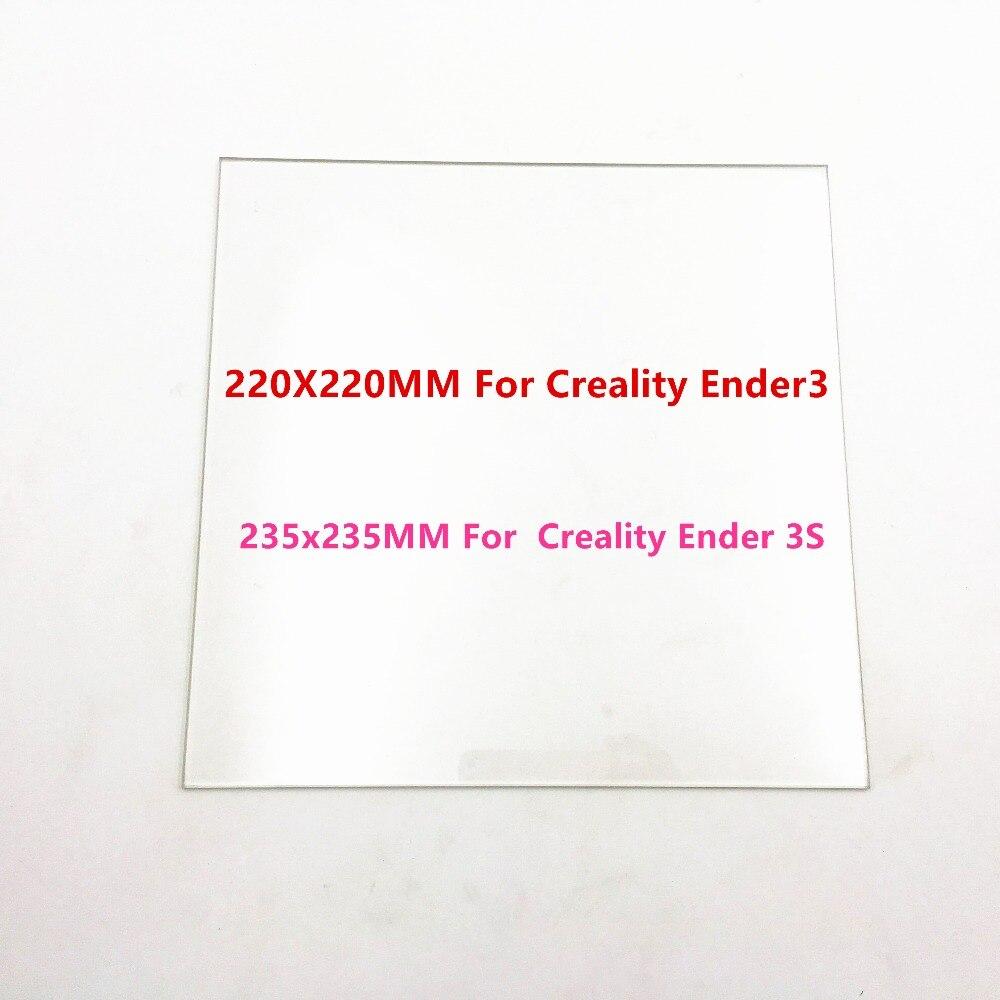 Funssor 220/235mm Vetro Borosilicato Letto per Creality Ender-3/3 s 3D stampante opaca Riscaldata Letto Borosilicato lastra di vetro