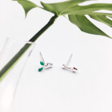 Купить с кэшбэком New 925 Sterling Silver Tiny Asymmetric Flowerpot Shovel Stud Earrings for Women Girls Creative Fashion Jewellery Wedding