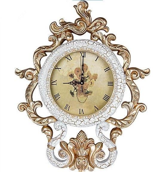 Free Shipping Fashion Royal Large Pocket Watch Mute Clock Table Art Wall Clocks Modern