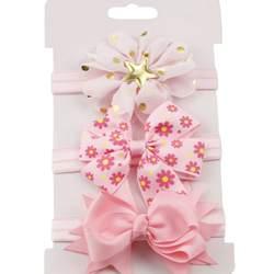 3 шт./компл. для маленьких девочек аксессуары зеленый цветок головная лента с бантом праздничное платье принцессы украшения Высокое