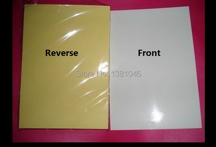 A4 Glossy White Printable White Self Adhesive Sticky Label Sticker Paper For Laser Printer 210 x