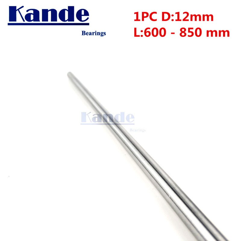 Kande Bearings 1pc d: 12mm 600 700 700 800 mm  chrome plate 3D printer rod shaft linear shaft chrome plated rod shaft CNC partsKande Bearings 1pc d: 12mm 600 700 700 800 mm  chrome plate 3D printer rod shaft linear shaft chrome plated rod shaft CNC parts