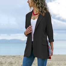 Women's Stylish Solid Blazers Fashion Long Sleeve Open Stitch Blazer Feminino Plus Size Female Jacket Casual Outerwear Tops