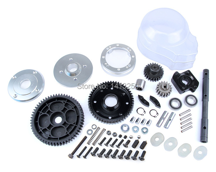 2 Speed metal gear Transmission Kit FOR 1/5 HPI ROVAN KM BAJA 5B 5T 5SC RC CAR PARTS baja cnc metal gear cover new diamond for 1 5 hpi km rovan baja 5b 5t 5sc rc car parts