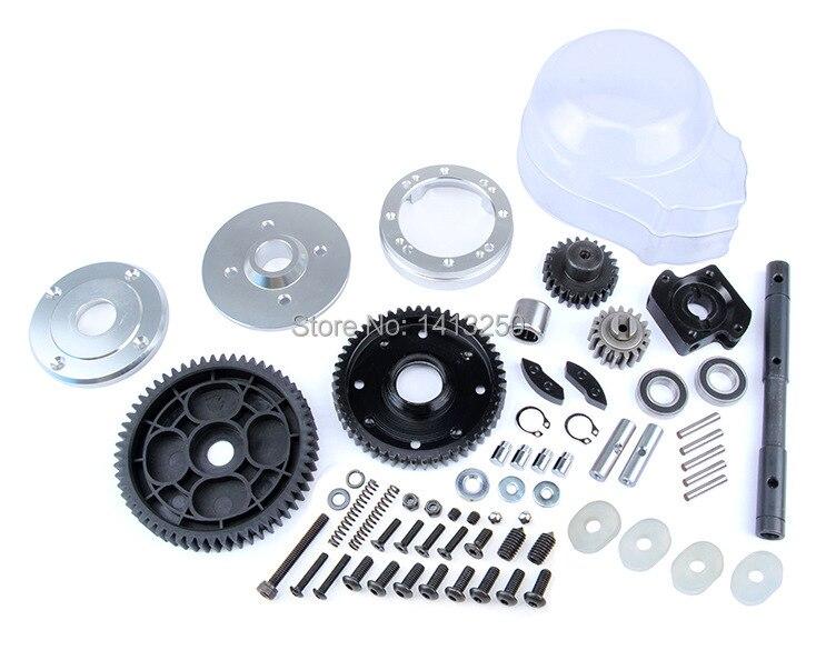 CNC two speed conversion set for 1/5  hpi baja 5b 5t parts cnc metal steering wiper arm set for 1 5 hpi baja 5b 5t 5sc