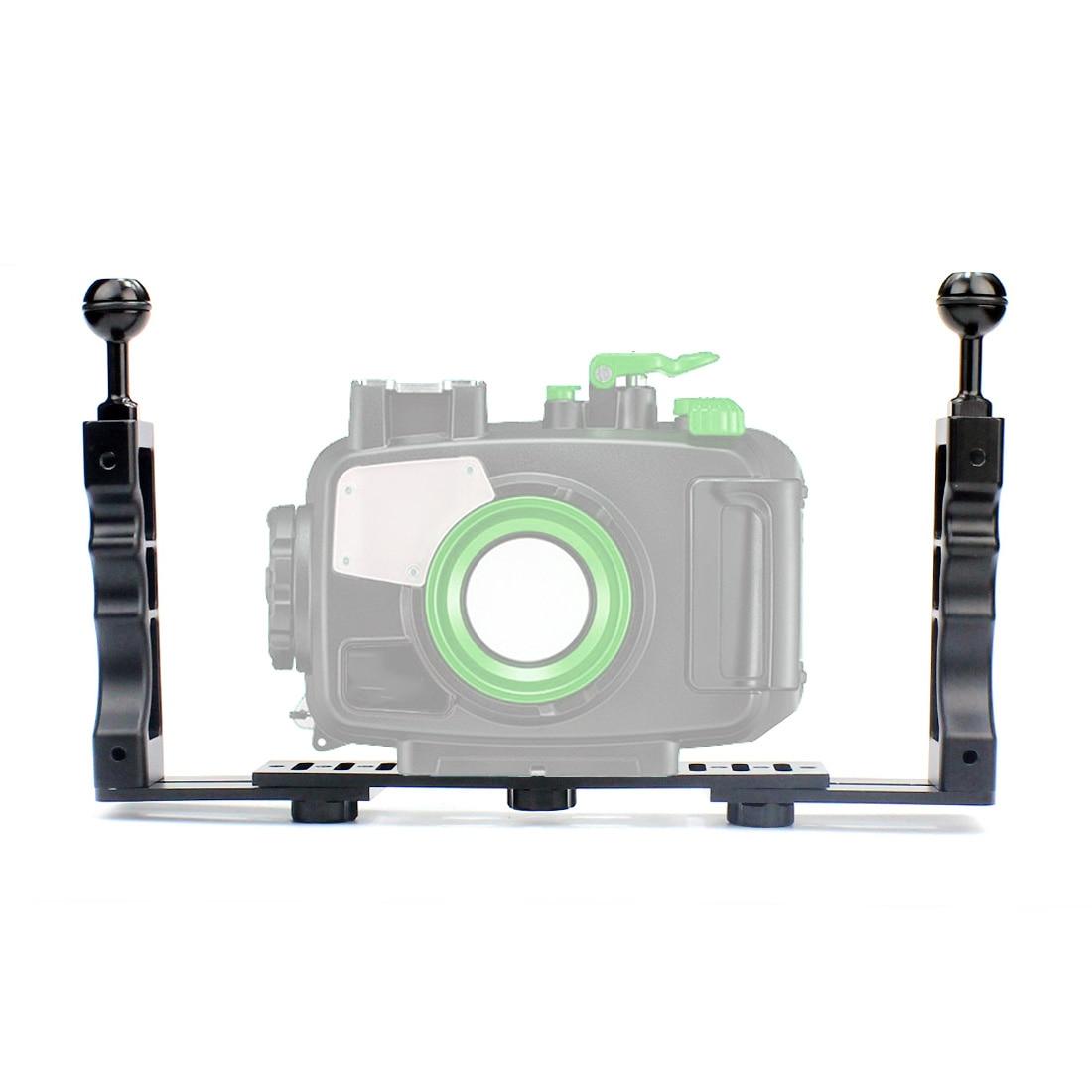 Mango de mano estabilizador de agarre de mano equipo submarino buceo bandeja montaje/luz LED para Gopro Cámara SJCAM Smartphone