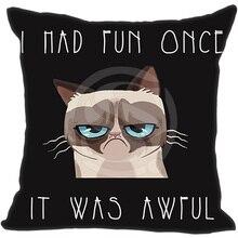 Топ Tard сердитый кот Подушки Детские случае Пледы Наволочки и двусторонней печати 45×45 см для установки кровати