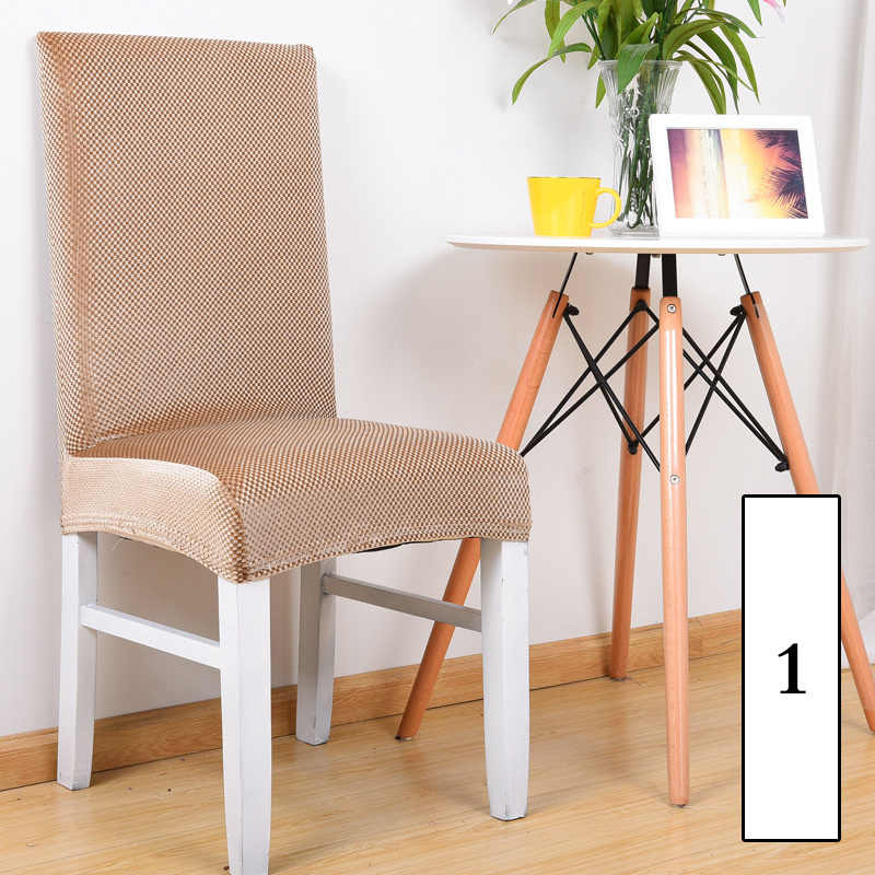 Золотой бархат цветочный обеденный чехол для кресла спандекс эластичный Анти-грязный Чехол протектор стрейч съемный отель чехол для сидений на кухне