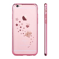 DEVIA For IPhone 6s Plus 6 Plus Covers Crystal Starry Series Rhinestone Transparent Hard PC Case