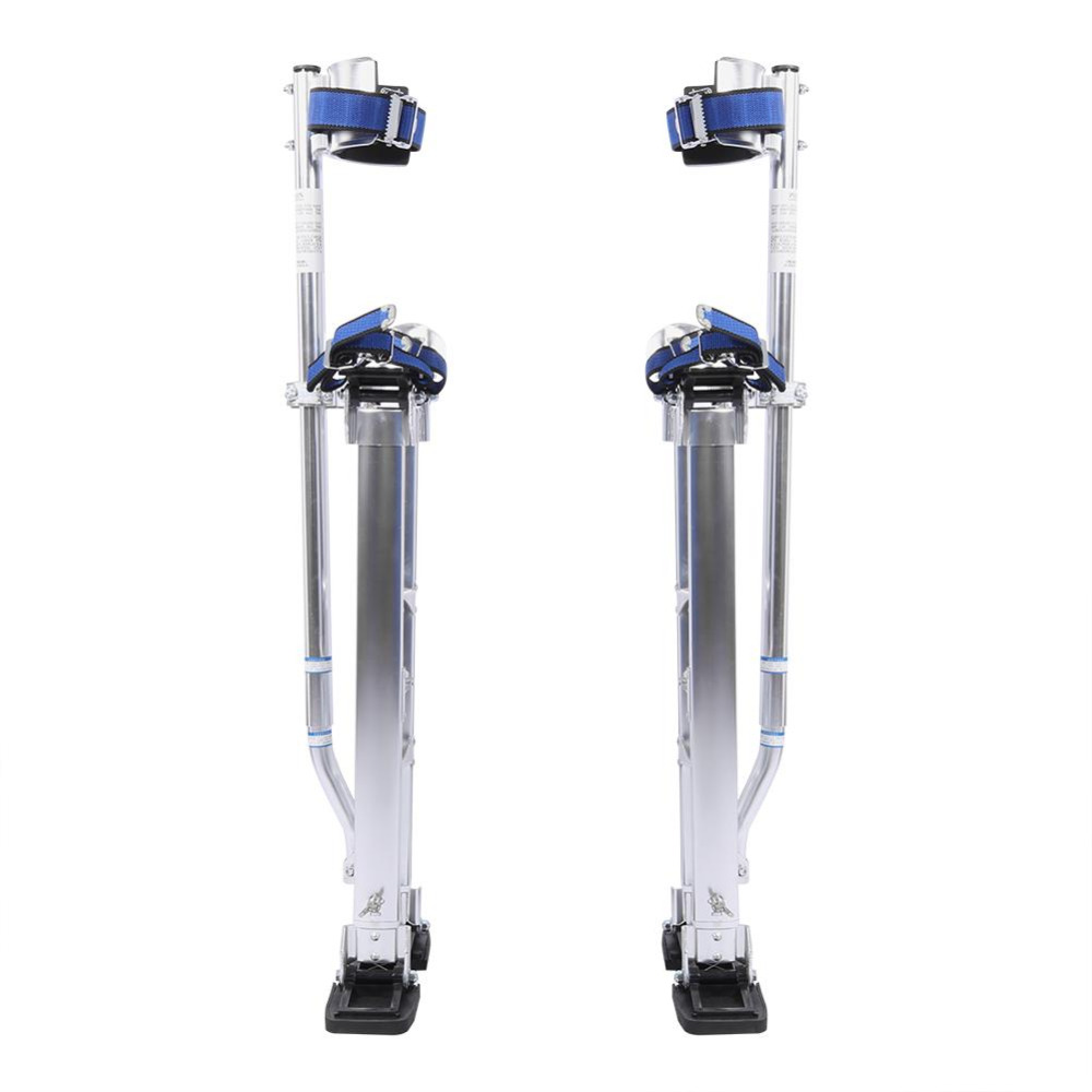 18-30inch Aluminum Alloy Professional Adjustable Drywall Plastering Stilts Painter Tool Silver christmas