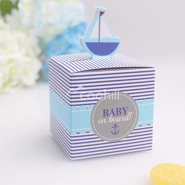 50pcs Stripe Baby On Board Cute Sail Pattern Baby Shower Candy Box Birthday  Party Supply Chocolate Box Favors 5.5*5.5*5.3cm In Gift Bags U0026 Wrapping  Supplies ...