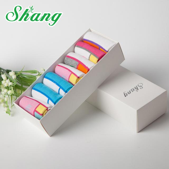 BAMBU ÁGUA SHANG embalagem caixa de Presente Das Mulheres meias bonito meias meias de algodão Doce meias de algodão Puro casual feminino Encantador FM-32