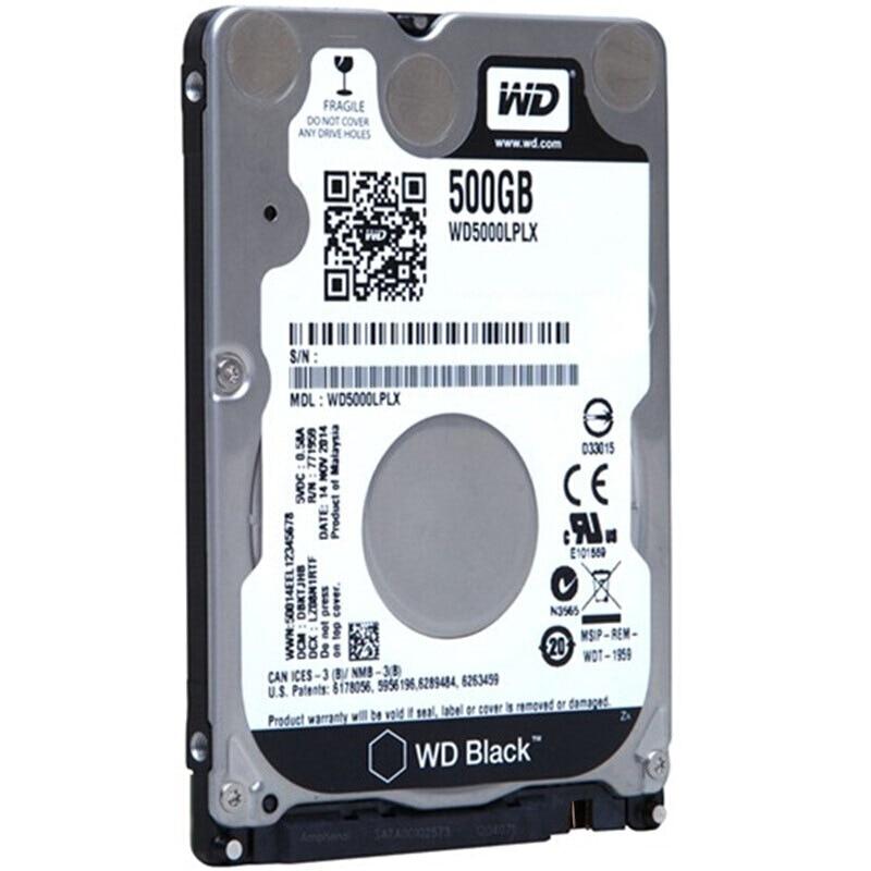 WD Black 500G 2.5 SATA III Internal Hard Disk Drive 500Gb HDD HD Harddisk 6Gb/s 32M 7mm 7200 RPM for Notebook Laptop wd purple 4tb hdd surveillance hard disk drive 5400 rpm class sata 6 gb s 64mb cache 3 5 inch wd40purx