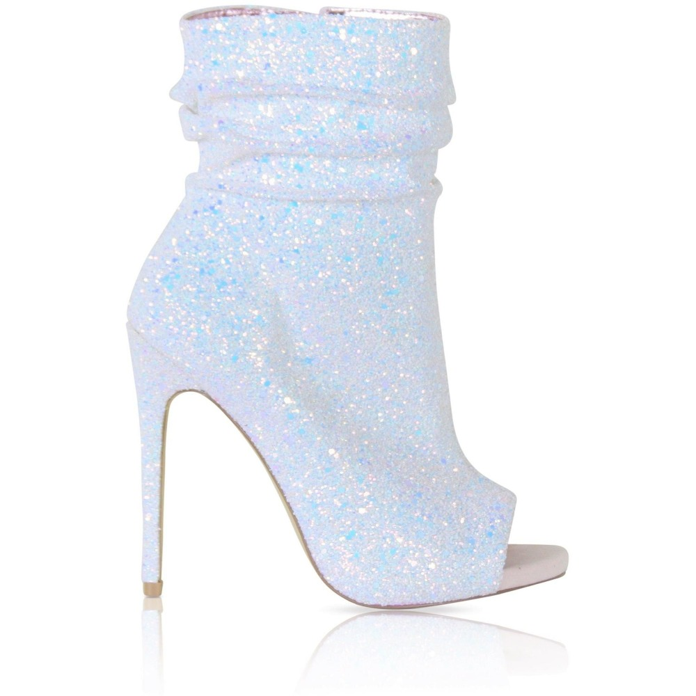 Offene Auf Mujer Slip Schuhe Bling Sommer Glitter Stiefeletten Plus As Spitze High Picture Botines Picture as Leder Heels Luxus Sexy Size47 Frau vq6qWnzI
