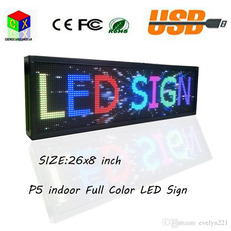 26 x 8 Programmable LED Scrolling Message Display Sign led panel Indoor Board P5 full color